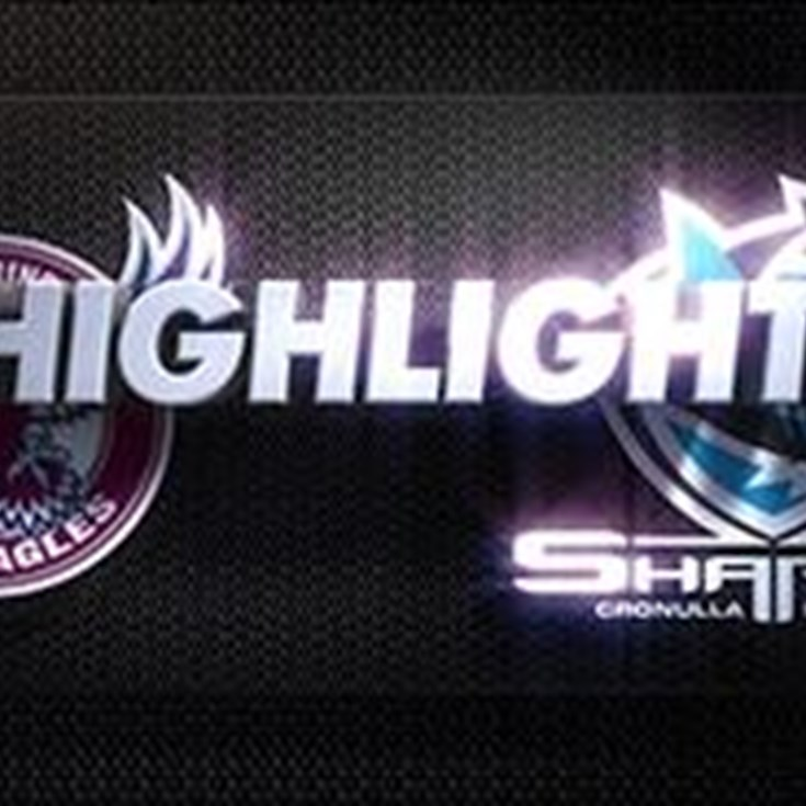 Sharks v Sea Eagles Rd 6 (Highlights)