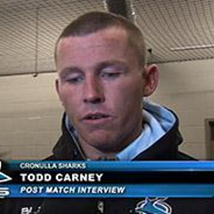 Todd Carney Post game Interview