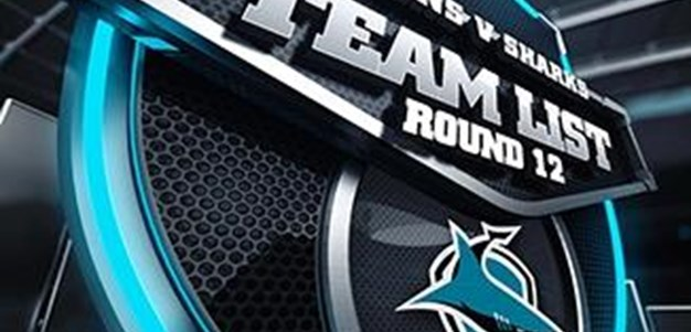 Sharks Rd12 Team List
