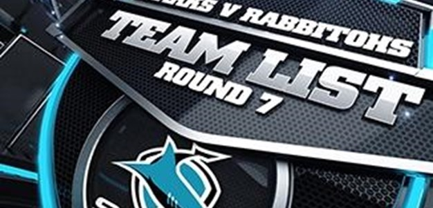 Sharks Team List Rd 7