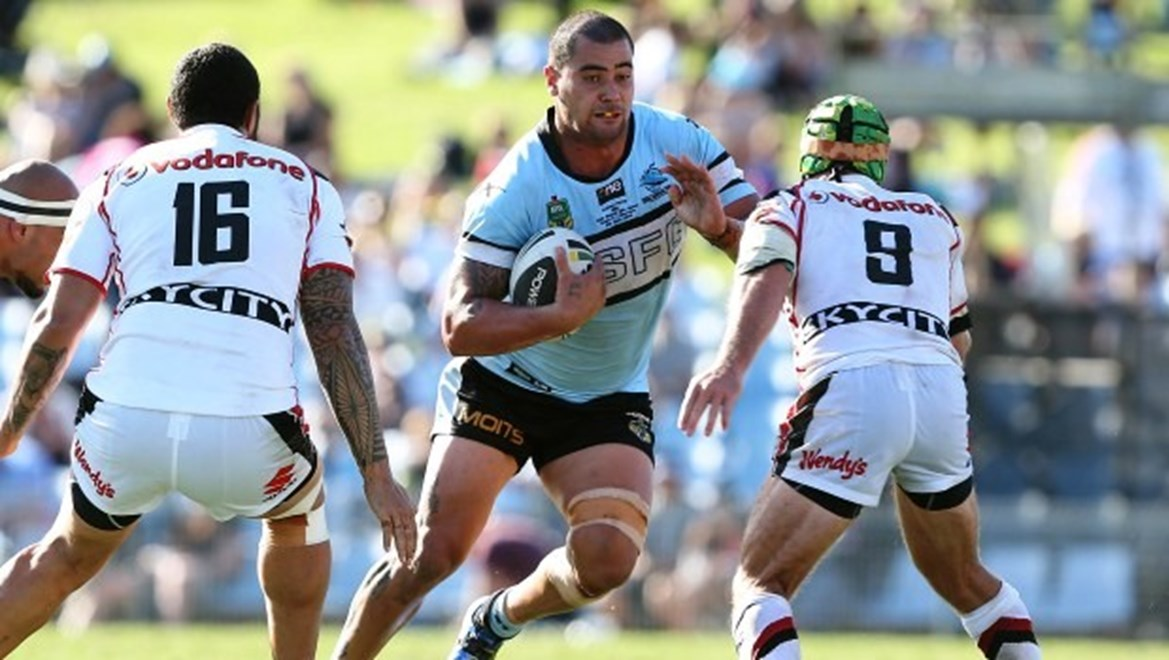 Digital Image by Robb Cox ©nrlphotos.com: Andrew Fifita :NRL Rugby League - Round 5; Cronulla Sutherland Sharks V Warriors at Remondis Stadium