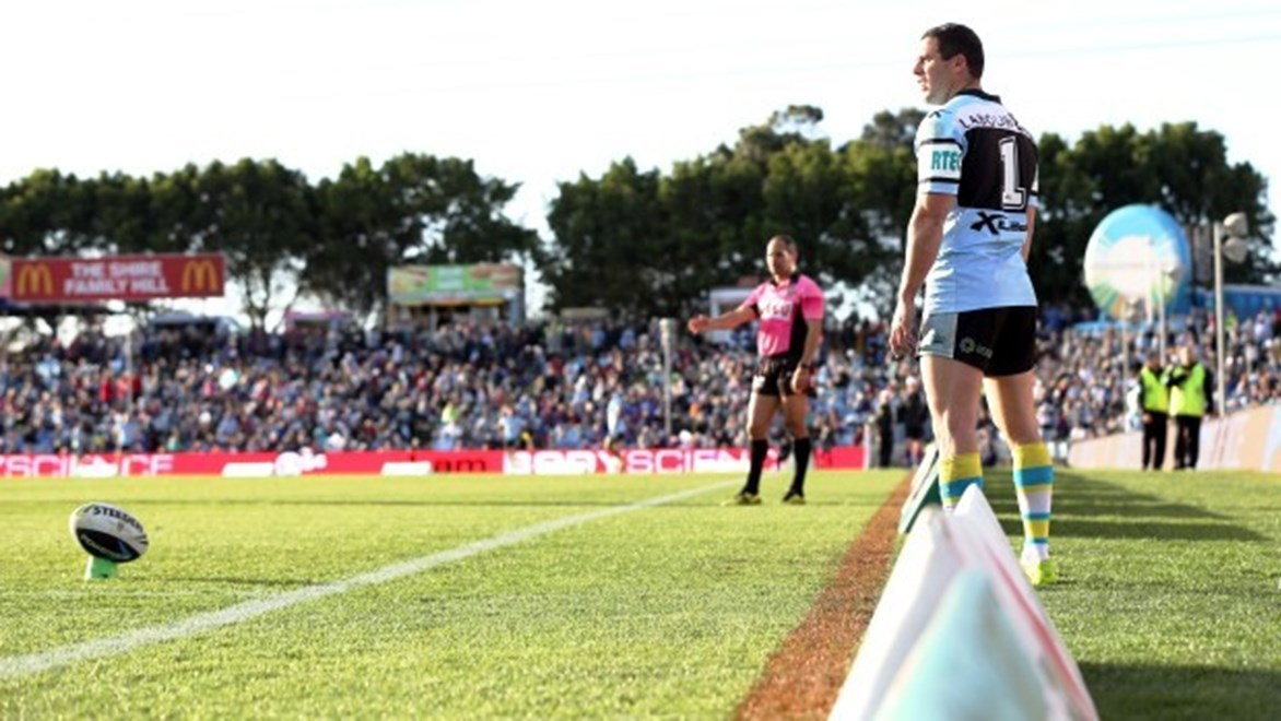 Digital Image by Robb Cox ©nrlphotos.com :NRL Rugby League - Cronulla-Sutherland Sharks V Newcastle Knights at Remondis Stadium