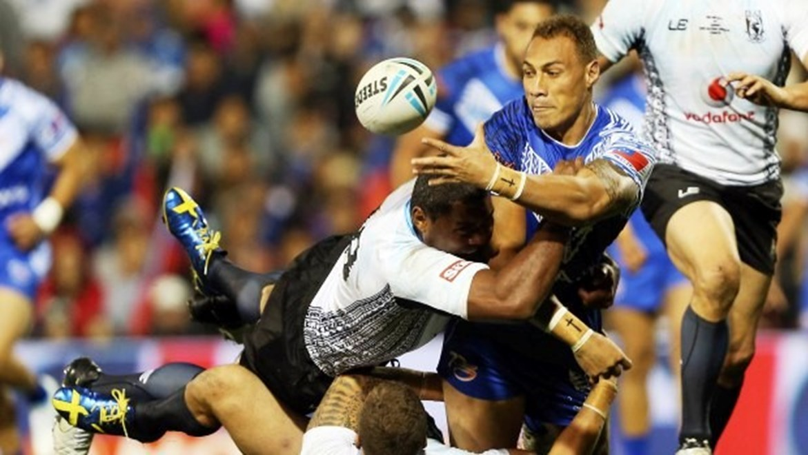 Digital Image by Robb Cox ©nrlphotos.com: Sam Tagataese :Representative Rugby League; Fiji V Samoa Test Match