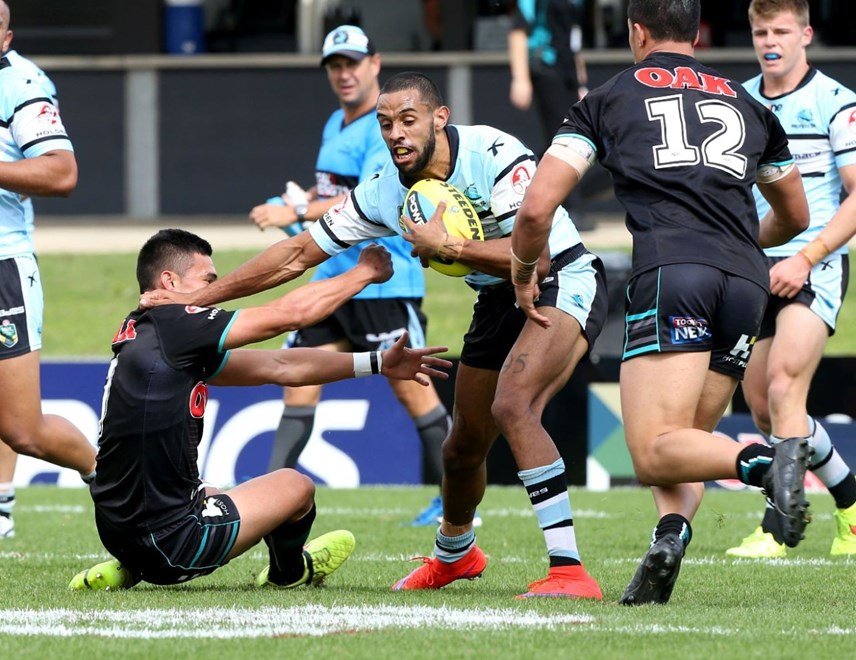 Digital Image by Anthony Johnson copyright © nrlphotos.com:  : 2015 NYC  Round 8 - Penrith Panthers vs Cronulla Sharks at Pepper Stadium, Sunday April 26th 2015