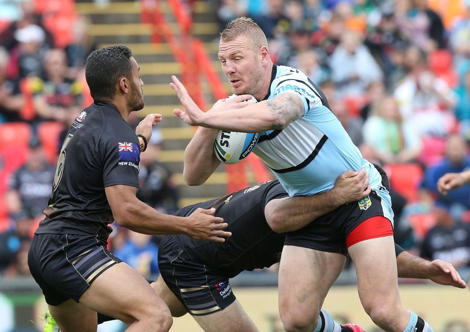 Digital Image by Anthony Johnson copyright © nrlphotos.com: Luke Lewis : 2015 NYC  Round 8 - Penrith Panthers vs Cronulla Sharks at Pepper Stadium, Sunday April 26th 2015