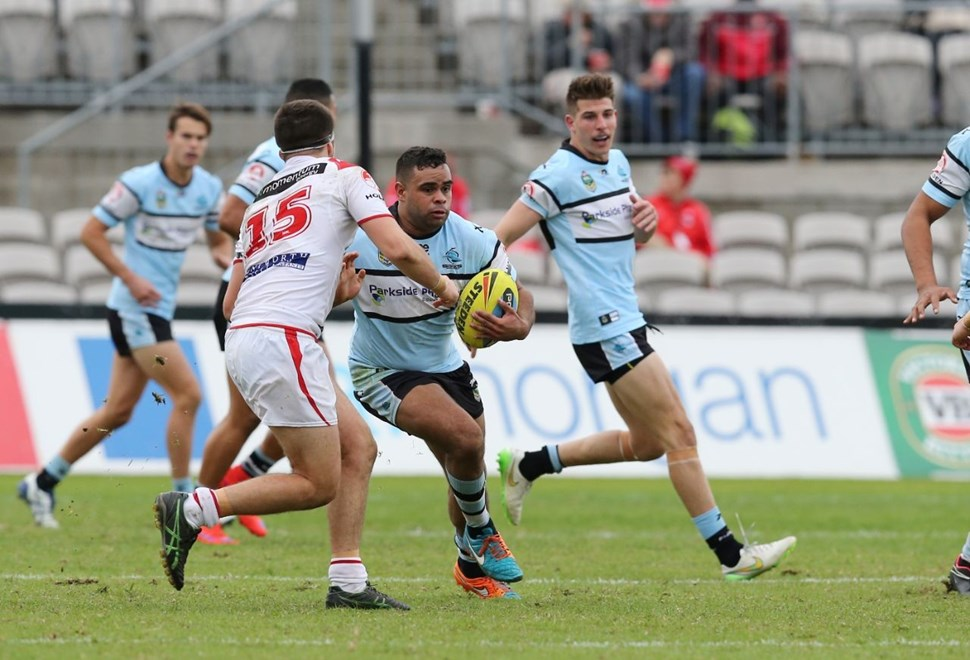 NYC  :Digital Image Grant Trouville © NRLphotos  : NRL Rugby League Round 12 - Cronulla Sharks v St George Illawarra Dragons at Jubilee Oval Kograh Sunday 31st MAY  2015.