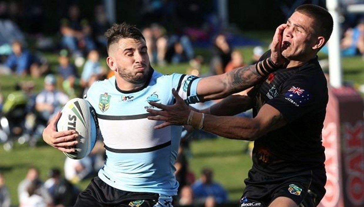 Digital Image by Anthony Johnson copyright © nrlphotos.com: Jack Bird : 2015 NYC  Round 8 - Penrith Panthers vs Cronulla Sharks at Pepper Stadium, Sunday April 26th 2015