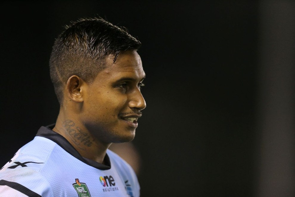 Ben Barba   :Digital Image by Grant Trouvile © NRLphotos  : 2015 NRL Round 2 - Cronulla Sharks  V Brisbane Broncos  at Remondis Stadium, Friday March 13th 2015.