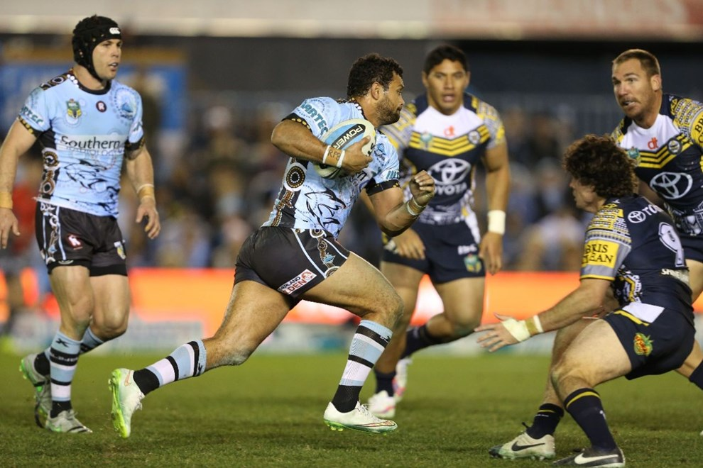 : NRL Rugby League - Sharks V Cowboys at Remondis Stadium, Saturday 8th August 2015. Digital Image by Robb Cox ©nrlphotos.com