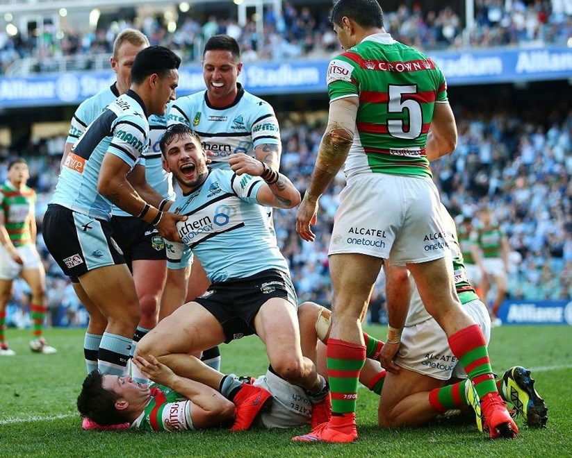 : NRL week one finals match between the Rabbitohs and the Sharks at Alianz Stadium on September 13, 2015 in Sydney, Australia. Digital Image by Mark Nolan.
