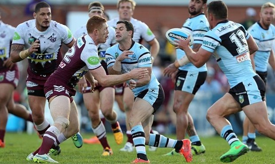 Michael Gordon :NRL Rugby League - Sea Eagles V Sharks, at Brookvale Oval, Sunday July 5th 2015. Digital Image by Robb Cox ©nrlphotos.com