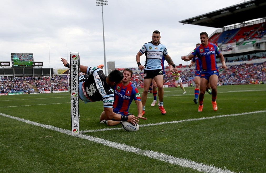Competition - NRL Round 10 - Newcastle Knights v Cronulla Sharks - Sunday 15 May 2016, Hunter Stadium Broadmeadow, Newcastle NSW - Photographer Shane Myers © nrlphotos.com