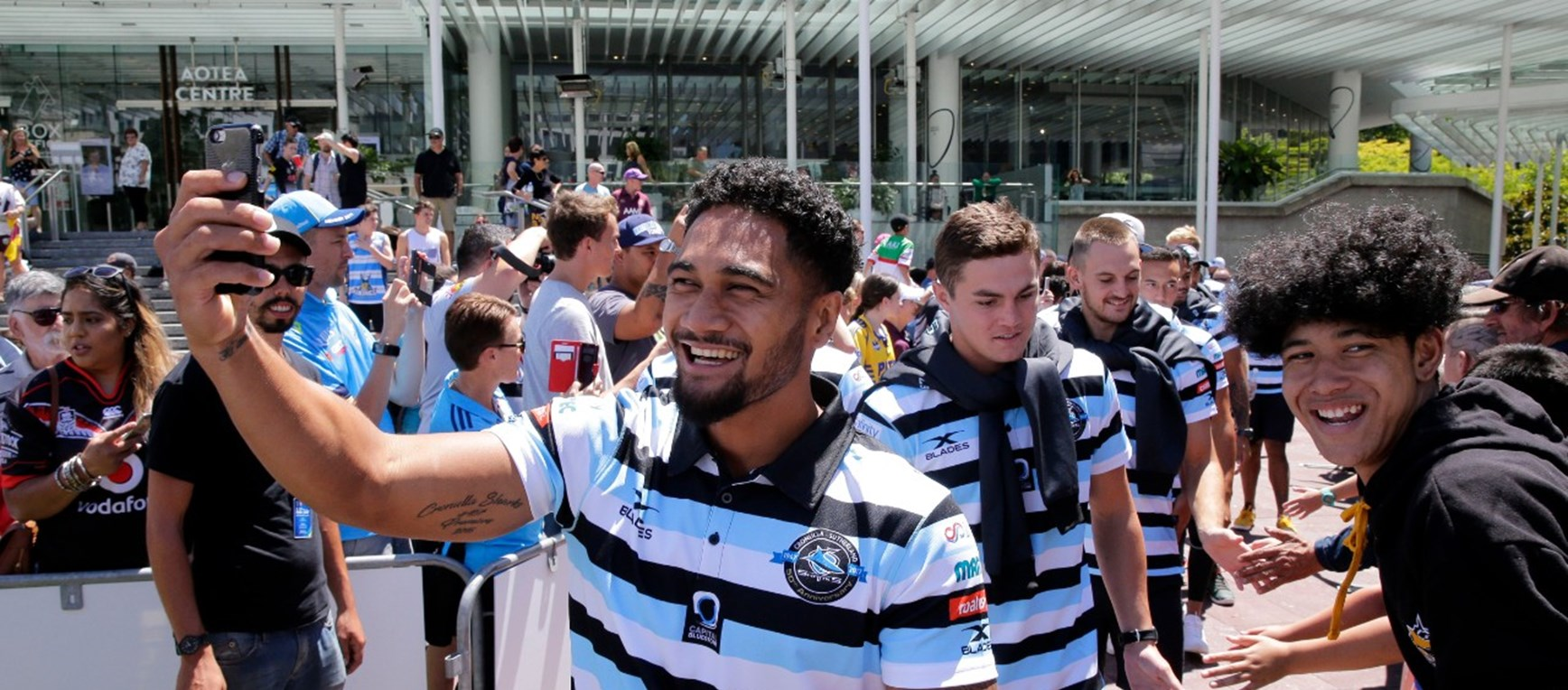 Gallery: NZ fans flock to see the Sharks