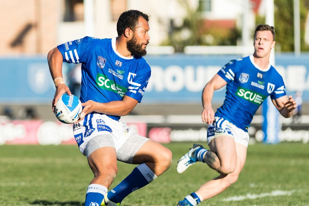 August 5, 2017 - Belmore, New South Wales, Australia - Joseph PAULO of the Newtown Jets during the NSWRL Intrust Super Premiership Round 22 match between The Canterbury Bankstown Bulldogs and the Newtown Jets  at Belmore Sports Ground in Belmore, New South Wales. (Mario Facchini/mafphotography)