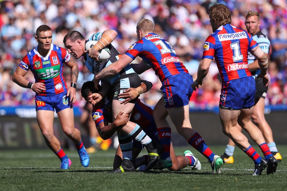Competition - NRL. Round - Round 26. Teams - Newcastle Knights v Cronulla Sharks. Date - 3rd of September 2017. Venue - McDonald Jones Stadium, NSW. Photographer - Paul Barkley | © NRL Photos