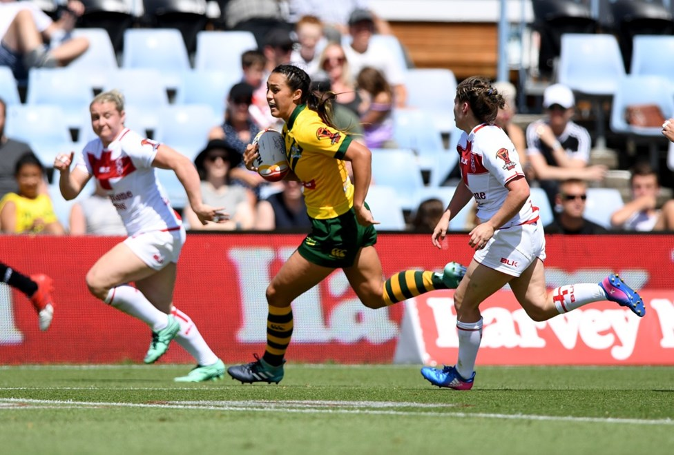 Womens RLWC Australia vs England at Southern Cross group Stadium  .Picture : NRL Photos / Gregg Porteous