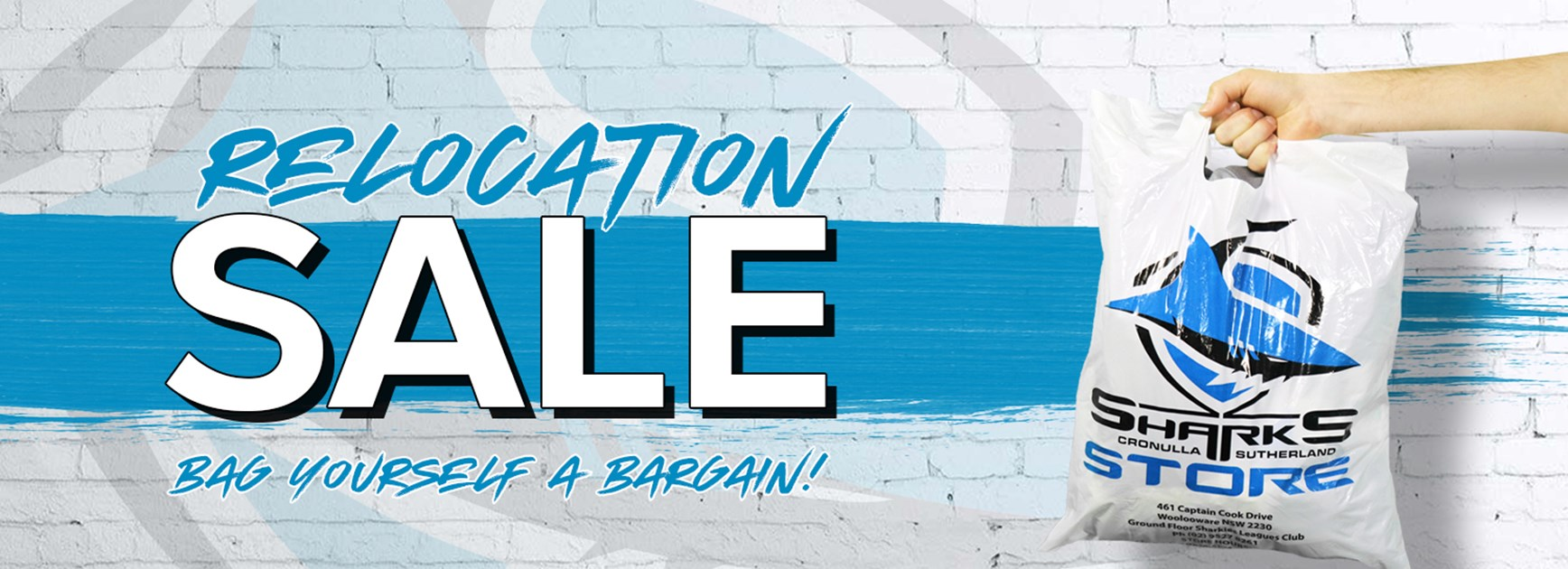 Sharks Store – Relocation Sale