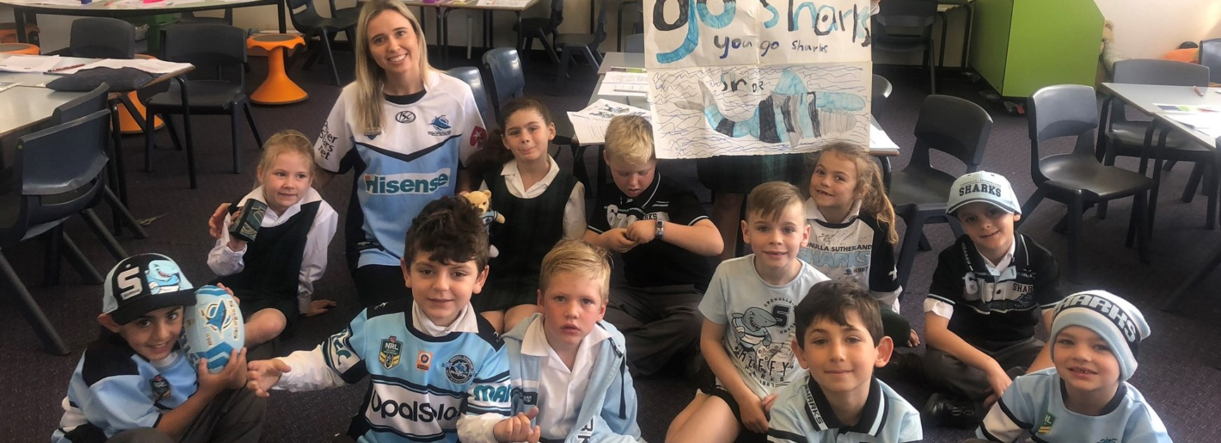 Sylvania Heights supporting the Sharks