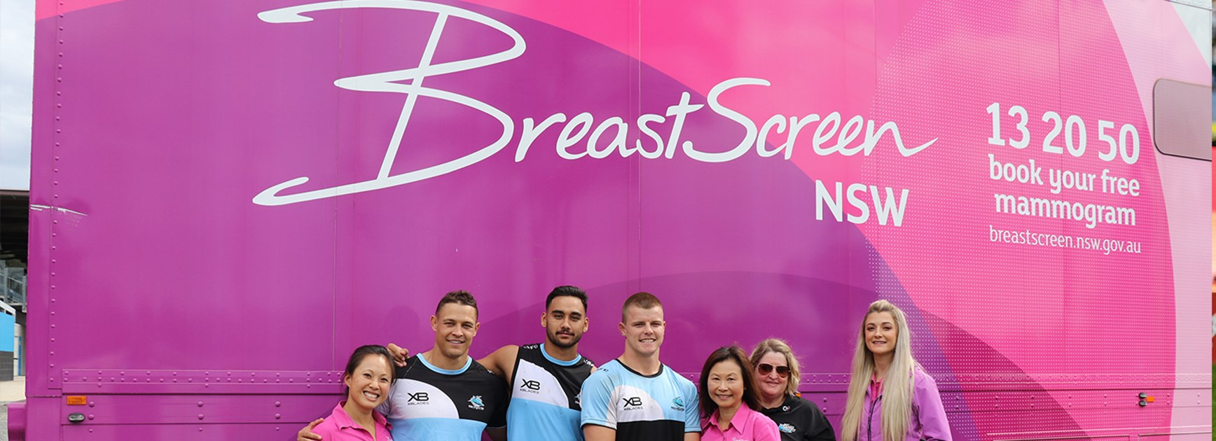 Sharks supporting BreastScreen NSW