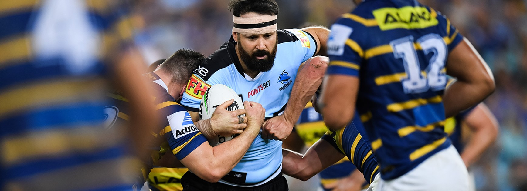 Battered Sharks brave in Eels loss
