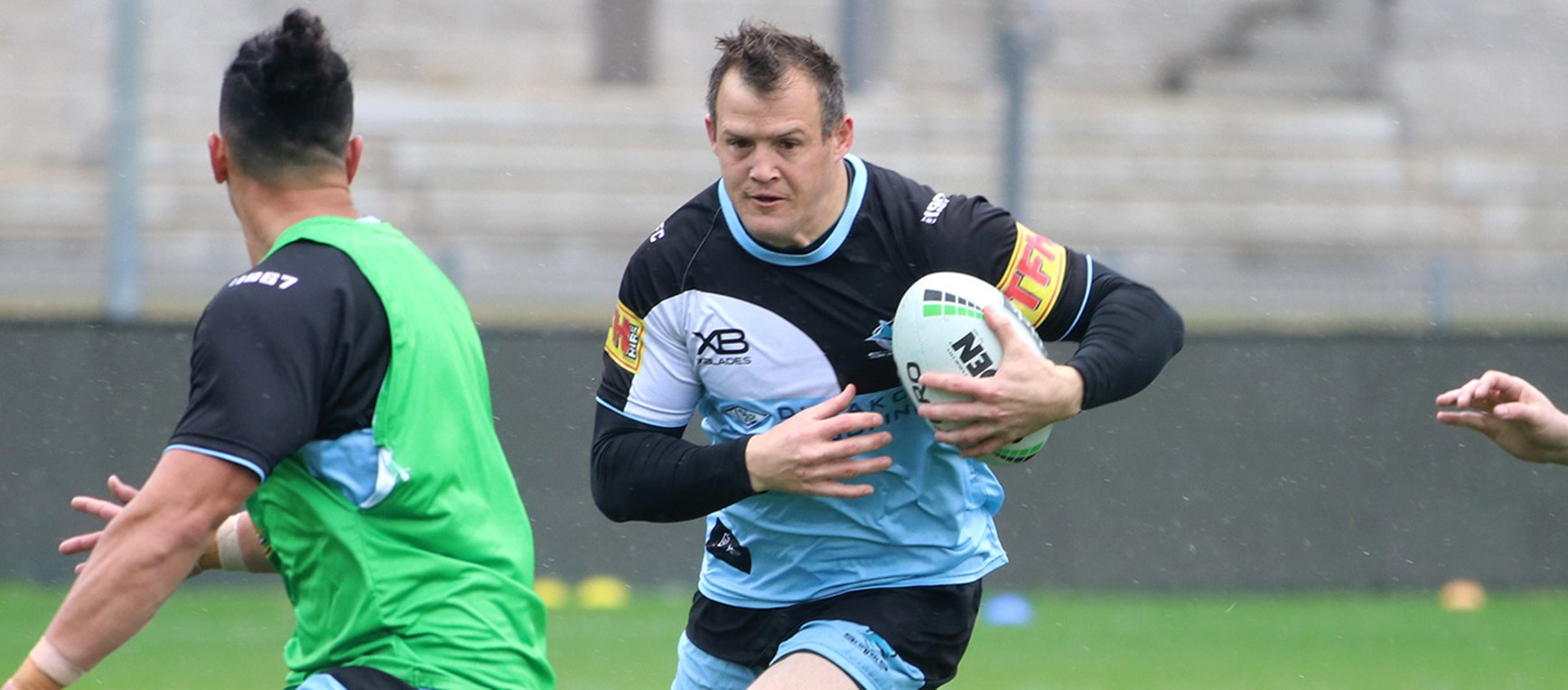 Wet weather footy as Sharks prepare for the Raiders
