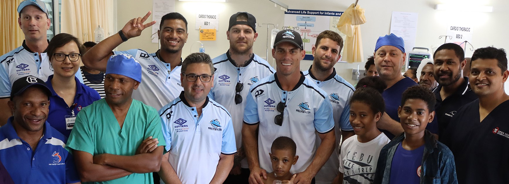 Morris talks to Hadley about 'life-changing' PNG hospital visit