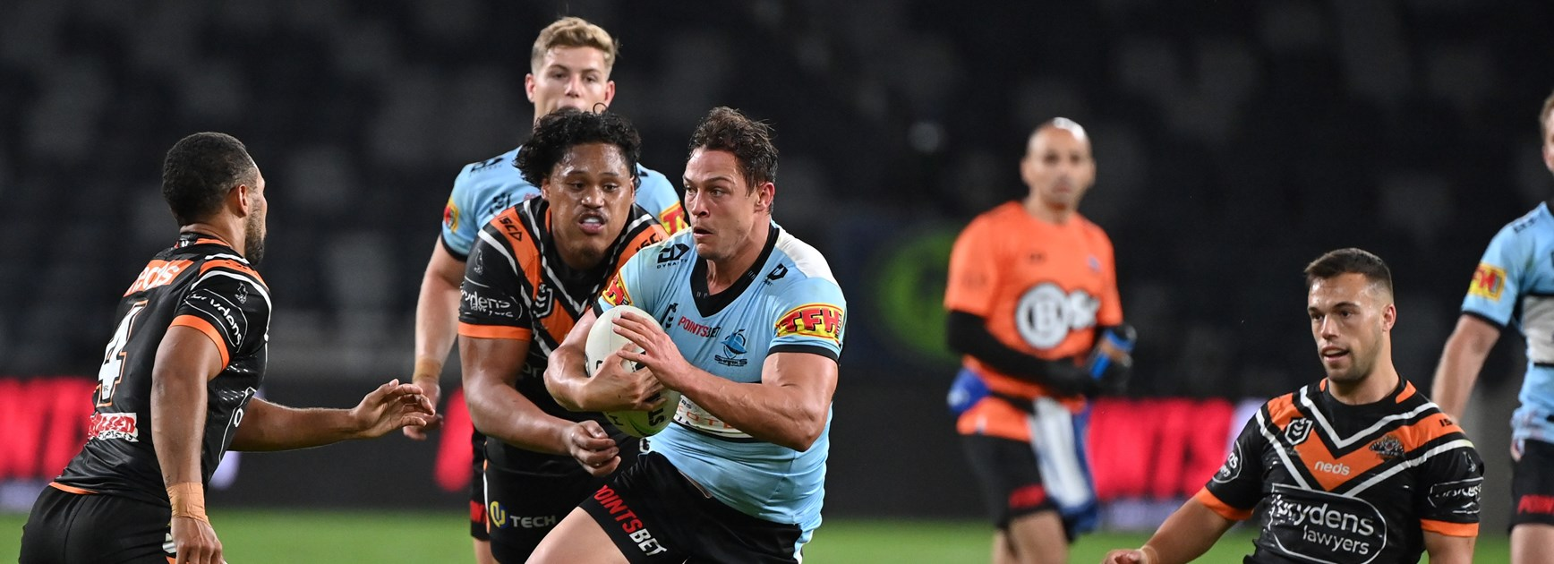 Sharks let first half lead slip in Tigers loss