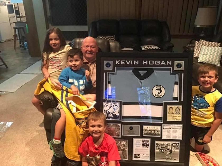 Kevin Hogan with his pride and joy, his four grandchildren