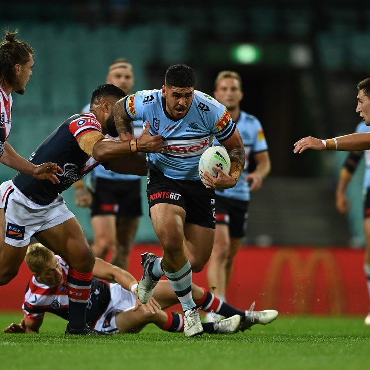 Sharks let big lead slip in Roosters loss