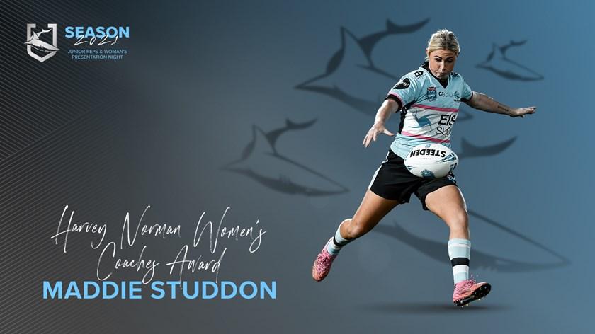 Sharks HNWP Coaches Award - Maddie Studdon