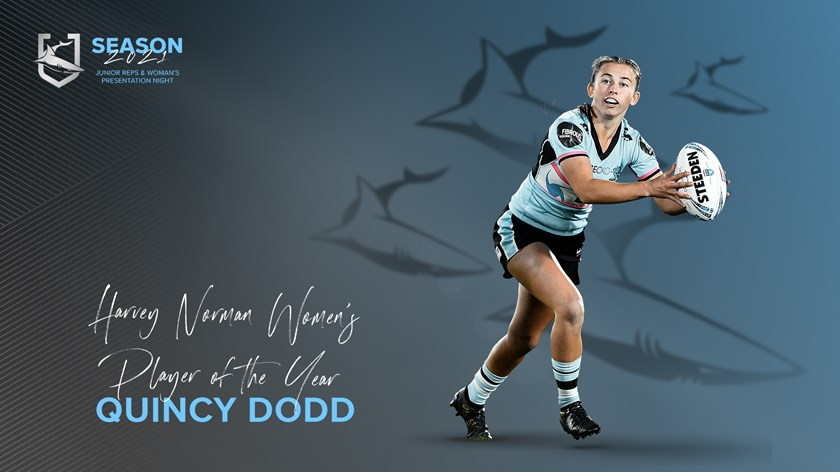 Sharks HNWP Player of the Year - Quincy Dodd